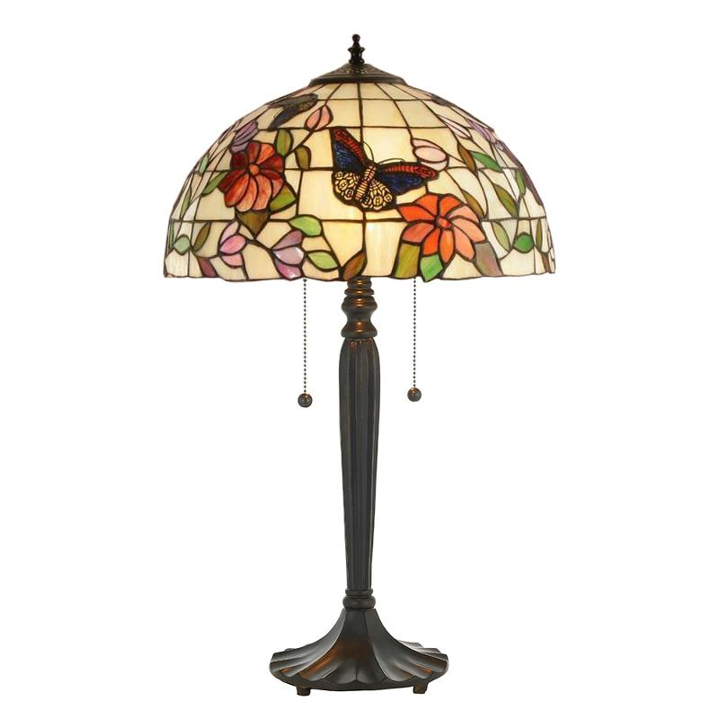 Medium Tiffany Lamps - Butterfly Medium Tiffany  Lamp 63997