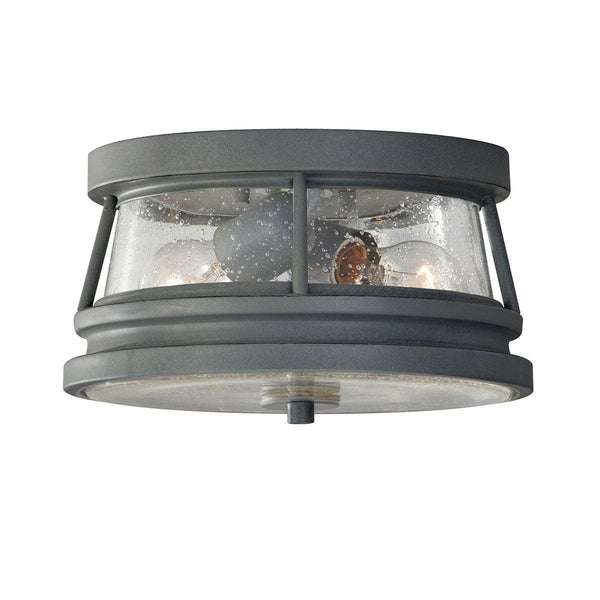 Elstead Chelsea Harbour Storm Cloud Finish Outdoor Flush Lantern