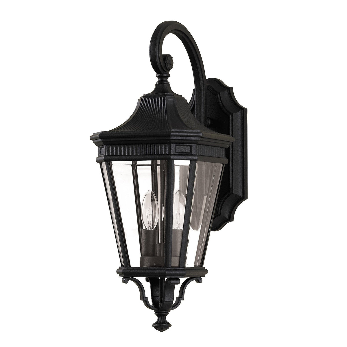 Elstead Cotswold Lane Black Outdoor Medium Wall Lantern