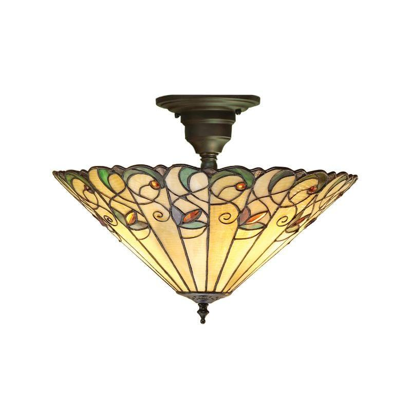Jamelia Semi Flush Tiffany Ceiling Light by Interiors 1900