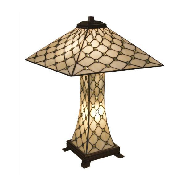 Jewelled Pyramid Tiffany Lamp