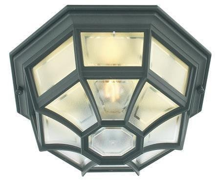 Elstead Latina Black Finish Outdoor Flush Wall/Ceiling Lantern