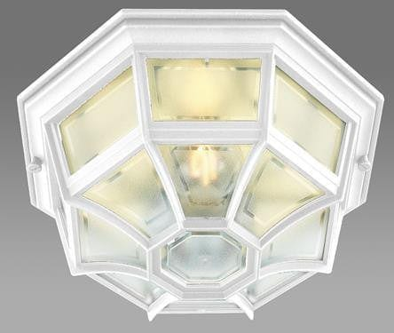 Elstead Latina White Finish Outdoor Flush Wall/Ceiling Lantern