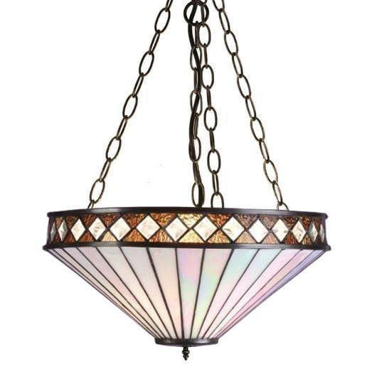 Fargo Large Inverted Tiffany Ceiling Light (adjustable chain)