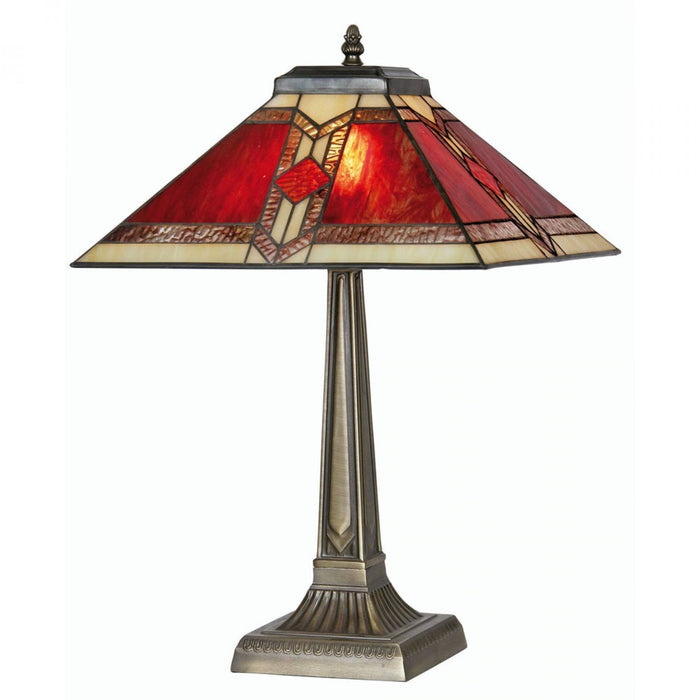 Aztec Tiffany Table Lamp OT 2408/14TL