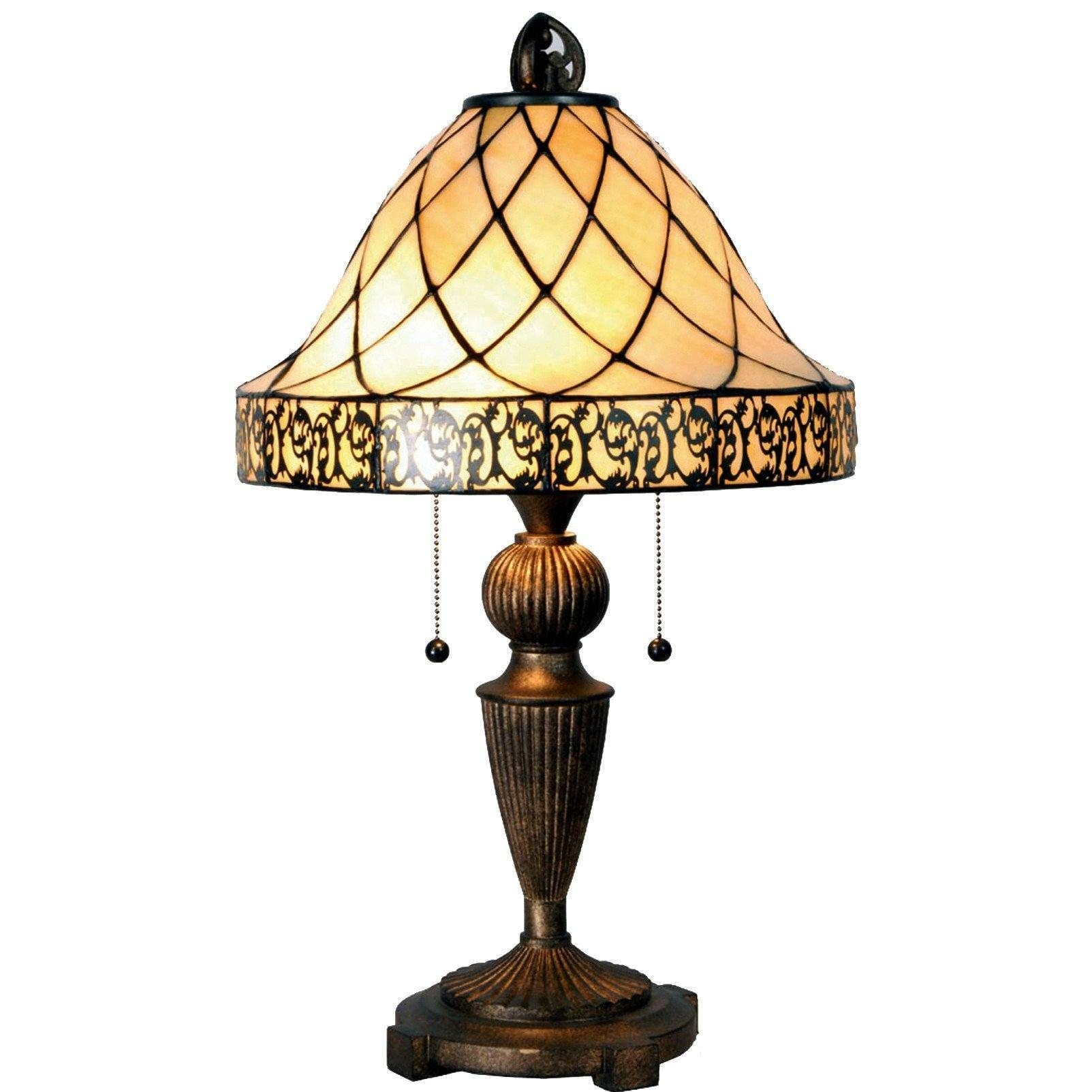 Cambridge tiffany table lamp 5ll 5408 aloadofball Image collections