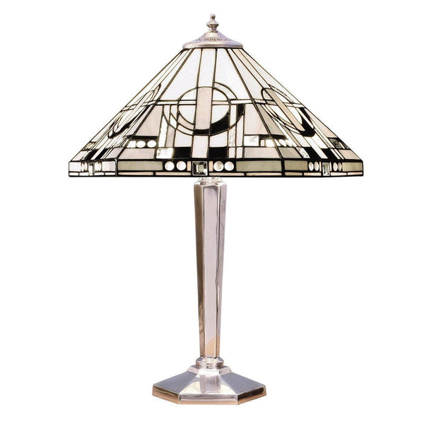 Large Tiffany Lamps - Metropolitan Tiffany Lamp With Aluminium Base 64260