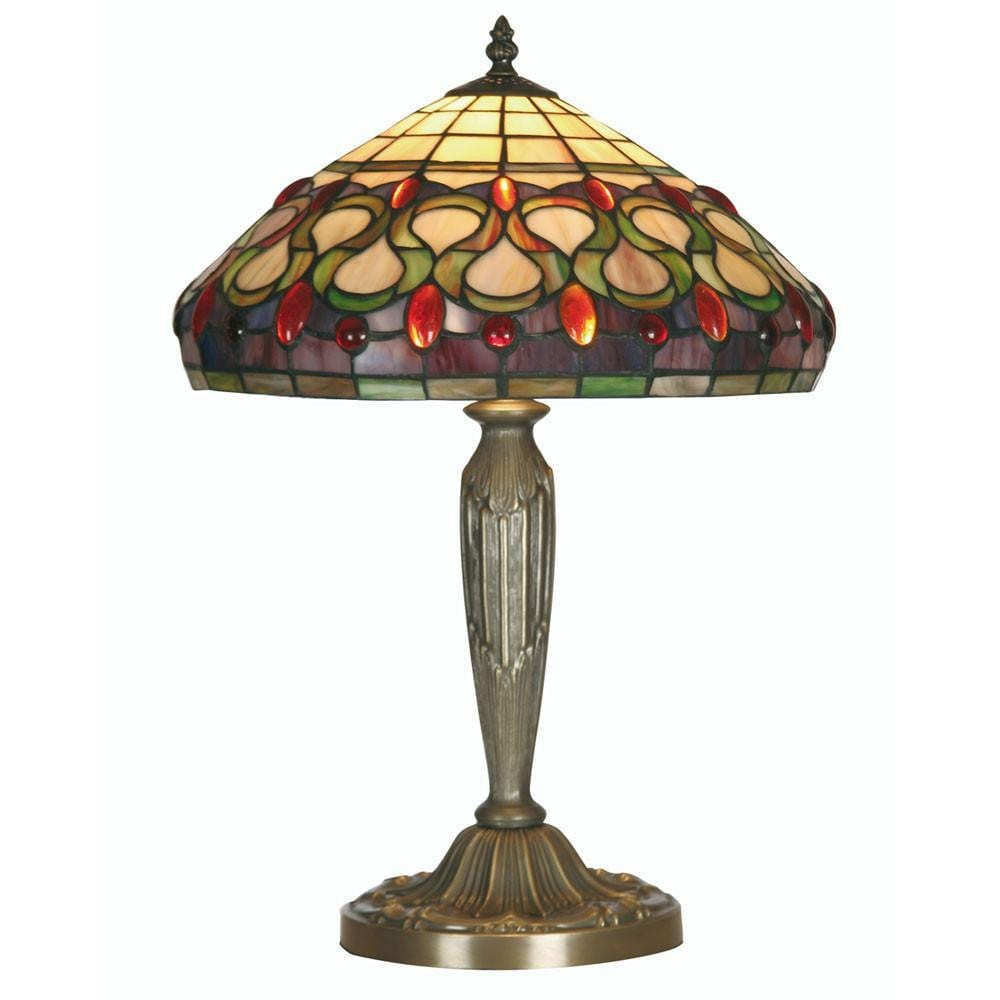 Large Tiffany Lamps - Oaks  Oberon Tiffany Lamp OT 1420/14TL