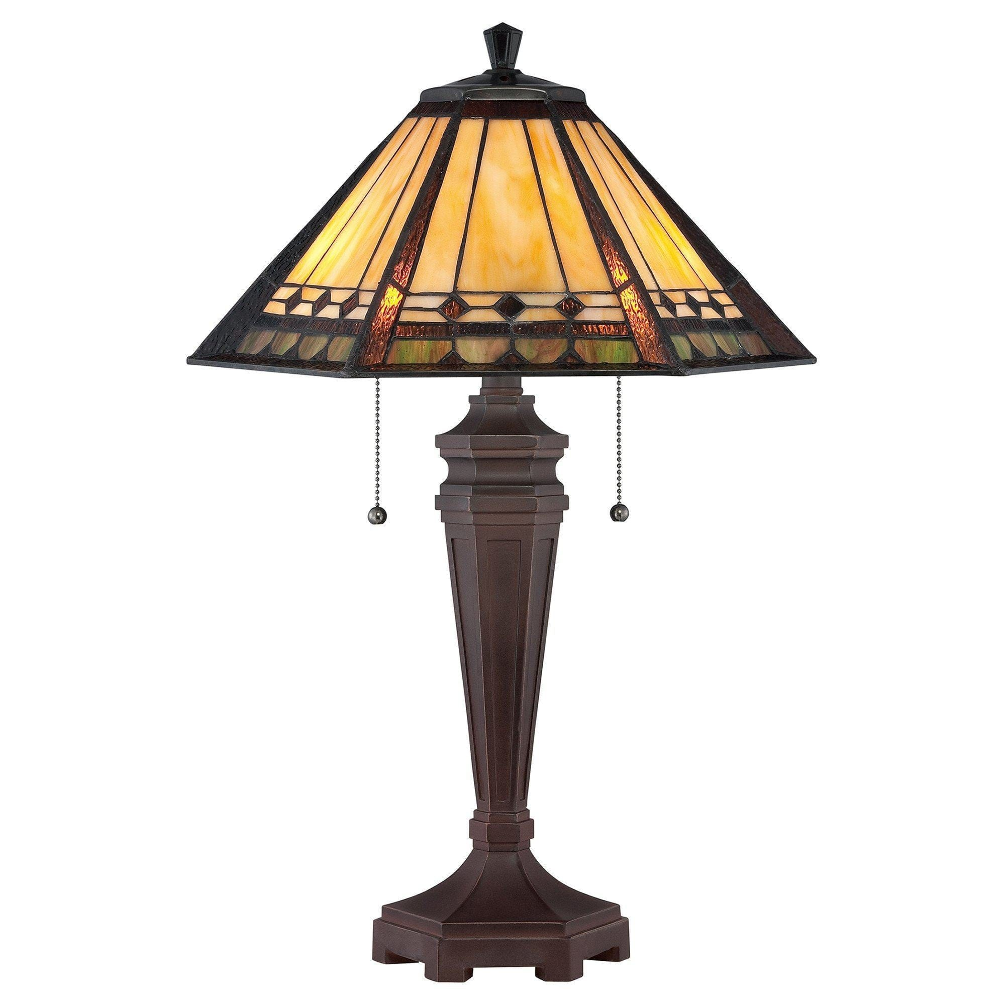 Large Tiffany Lamps - Quoizel Large Tiffany Arden Table Lamp QZ/ARDEN/TL