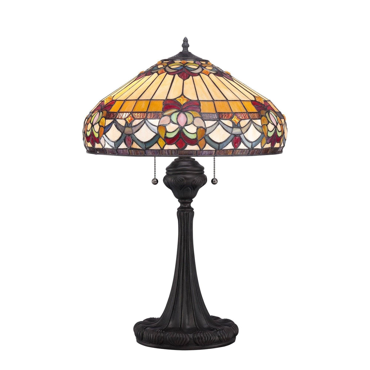 Large Tiffany Lamps - Quoizel Large Tiffany Belle Fleur Table Lamp QZ/BELLEFLEUR/TL