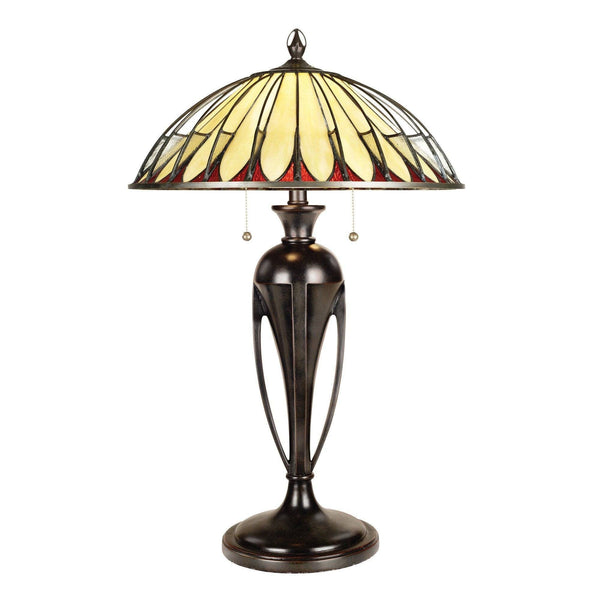 Large Tiffany Lamps - Quoizel Tiffany Alahambre Large Table Lamp QZ/ALAHAMBRE/TL