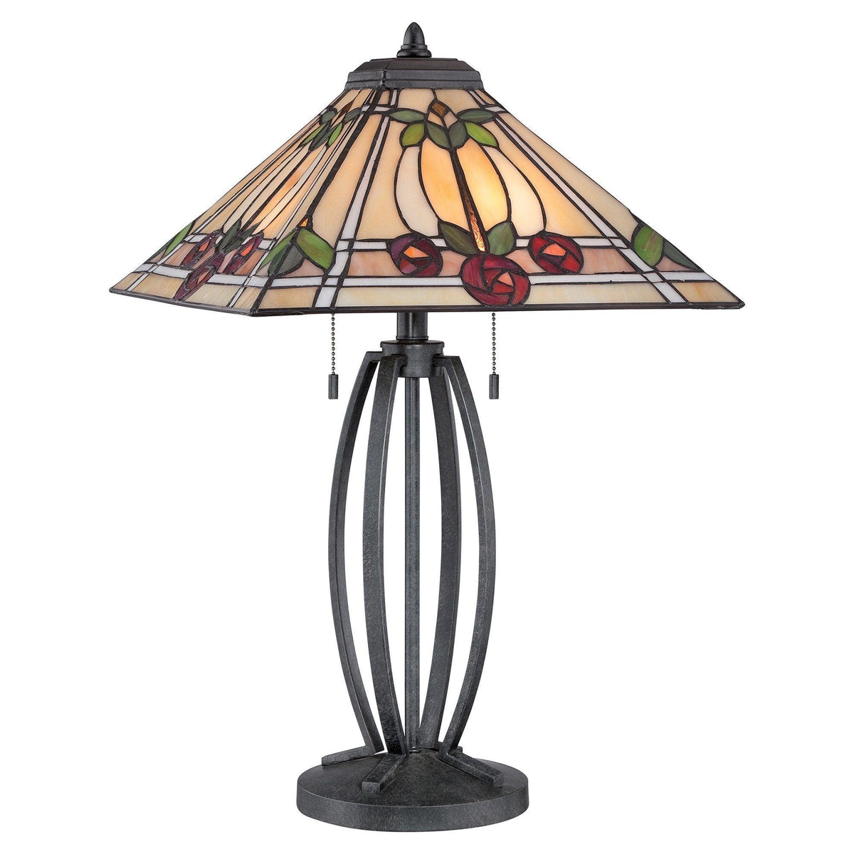 Large Tiffany Lamps - Quoizel Tiffany Ruby Large Table Lamp QZ/RUBY/TL