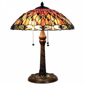 Large Tiffany Lamps - Red Dragonfly Tiffany Lamp