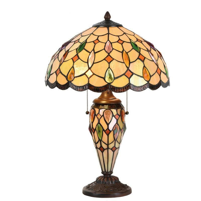 Large Tiffany Lamps - Rugby Tiffany Lamp