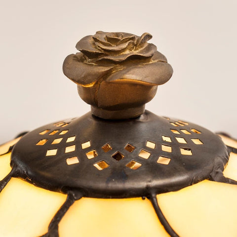 Large Tiffany Lamps - Tiffany Lamp Rose Finial