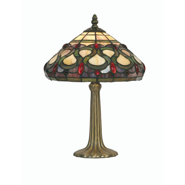 Medium Tiffany Lamps - Oaks Tiffany Oberon Medium Table Lamp OT 1420/10TL
