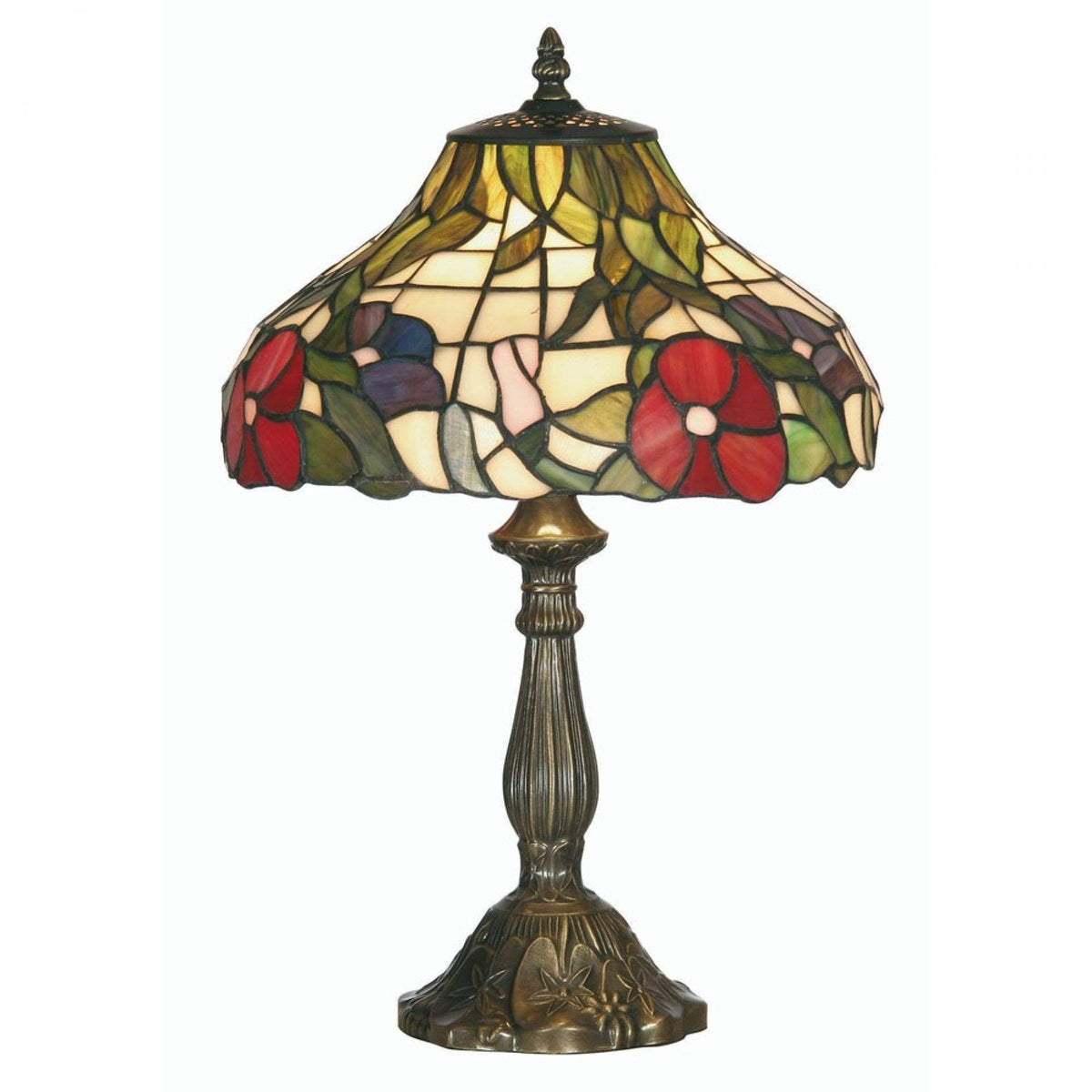 Medium Tiffany Lamps - Oaks Tiffany Peonies Medium Table Lamp OT 1345/12TL