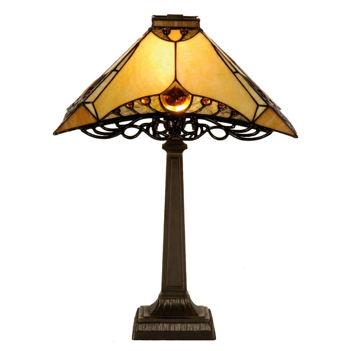 Medium Tiffany Lamps - Priory Tiffany Table Lamp 5LL-5313