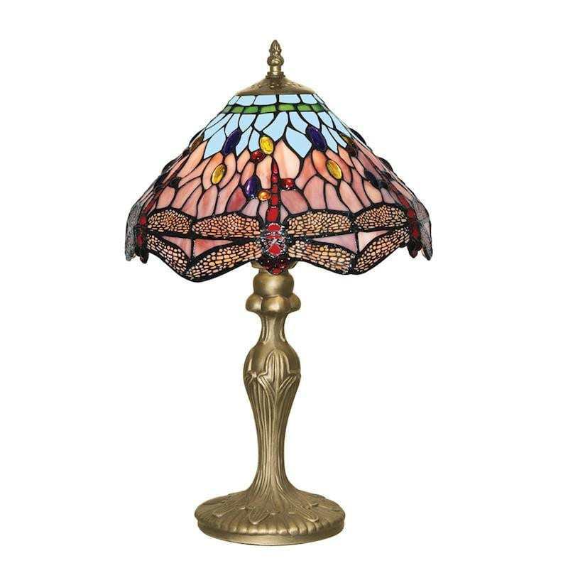 Medium Tiffany Lamps - Searchlight Dragonfly Tiffany Table Lamp 1287