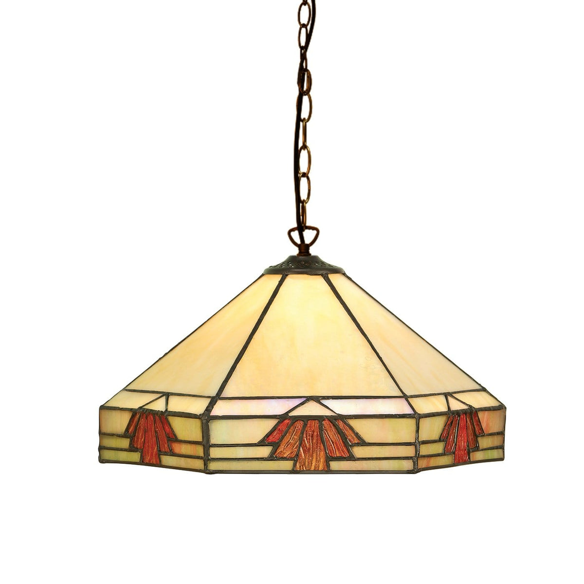 Nevada Medium Tiffany Ceiling Light by Interiors 1900