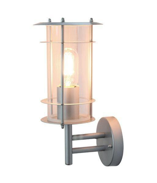 Elstead Ordrup Silver Outdoor Wall Lantern