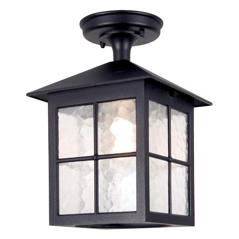 Elstead Winchester Black Finish Outdoor Flush Lantern