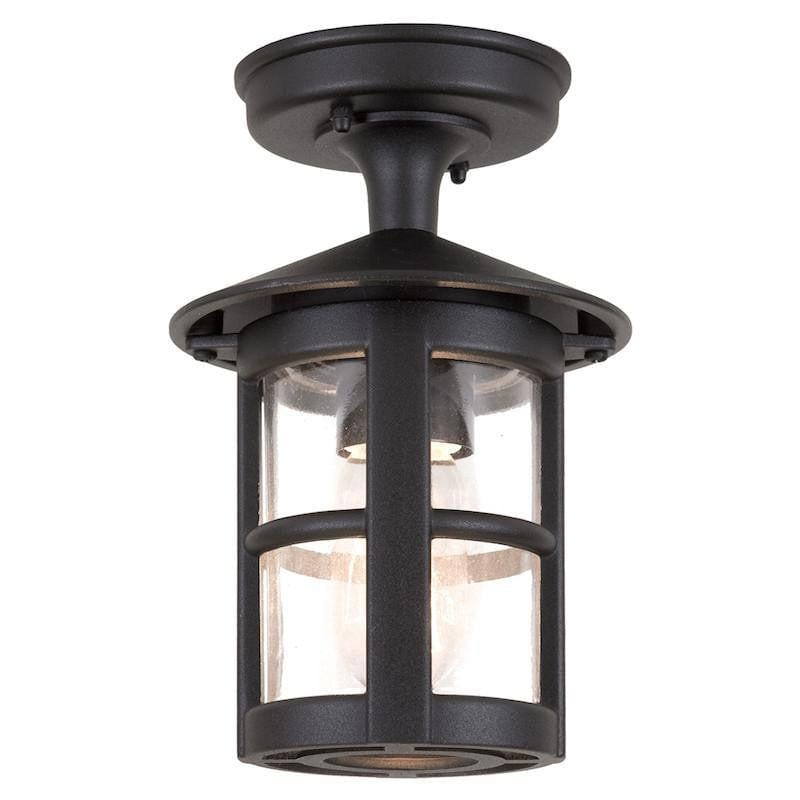 Elstead Hereford II Black Finish Outdoor Flush Lantern