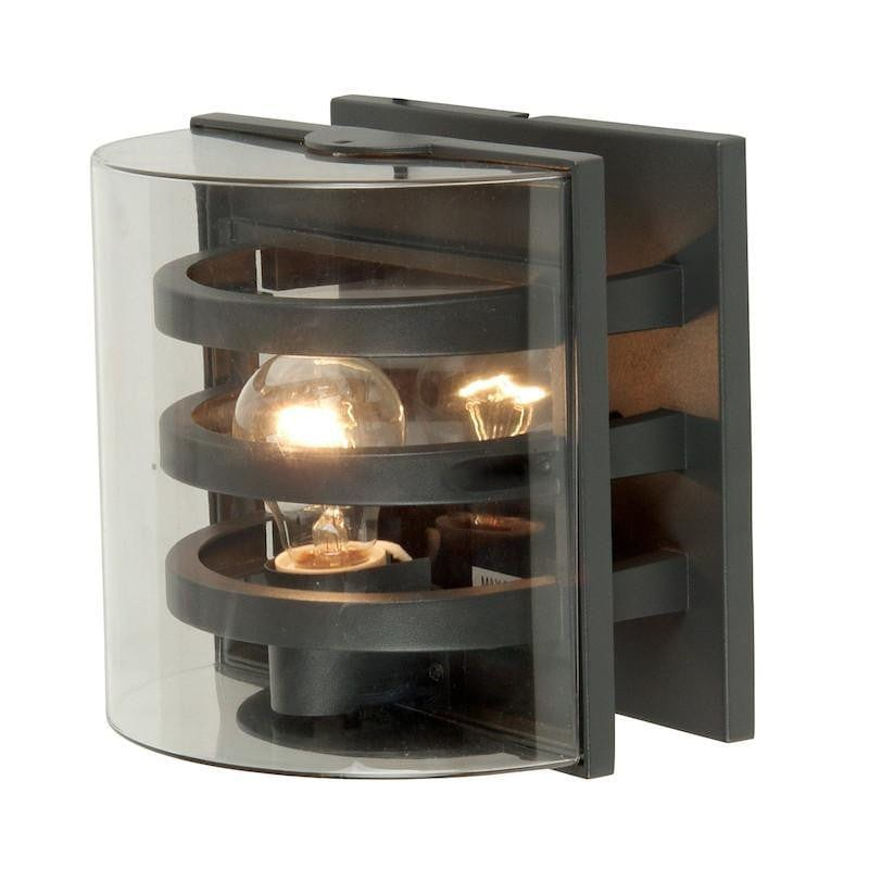 Elstead Delta Graphite Outdoor Wall Light