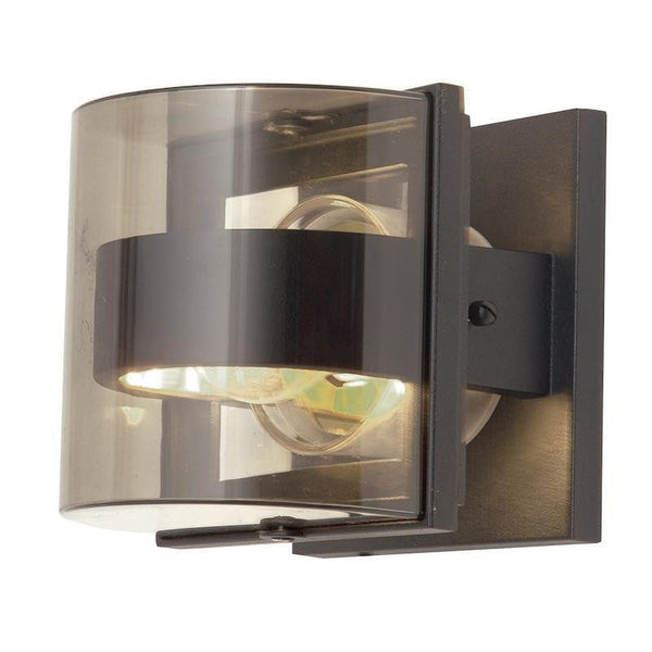 Elstead Delta Small Graphite Outdoor Wall Light