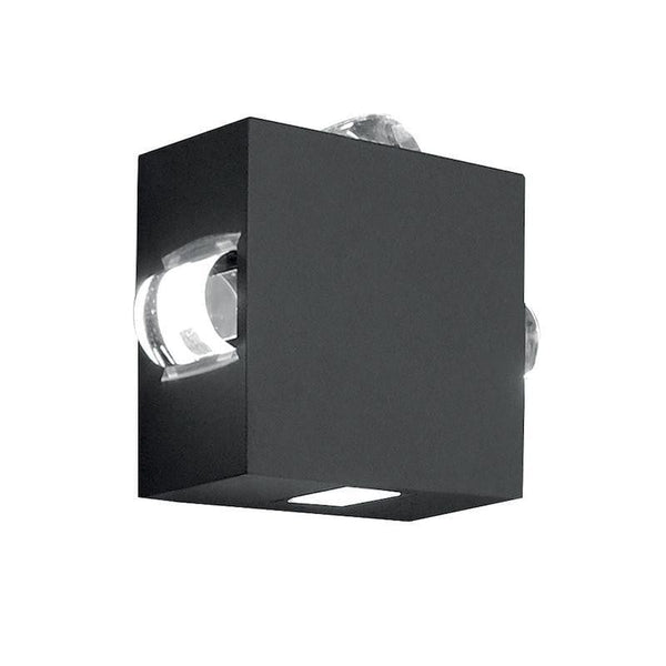 Elstead Evans 4 Way Graphite LED Outdoor Wall Light