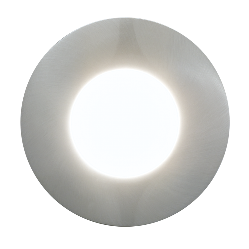 Eglo Margo Stainless Steel Finish Outdoor LED Recessed Ceiling Light 94092 by Eglo Outdoor Lighting