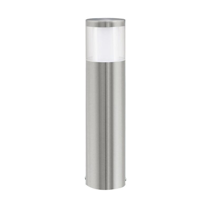 Eglo Basalgo 1 Stainless Steel Finish Outdoor LED Pedestal Light 94278 by Eglo Outdoor Lighting