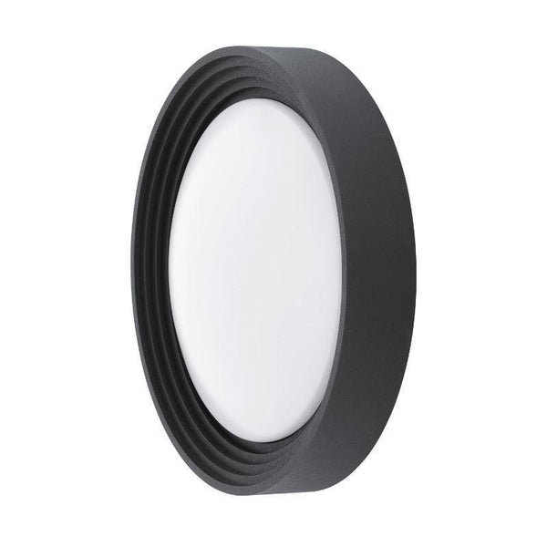 Eglo Ontaneda Black Finish Outdoor LED Flush Ceiling/Wall Light 94784 by Eglo Outdoor Lighting