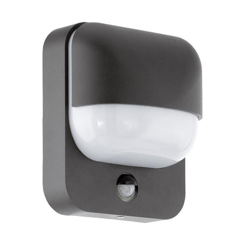 Eglo Trabada Black Finish Outdoor PIR Wall Light 94853