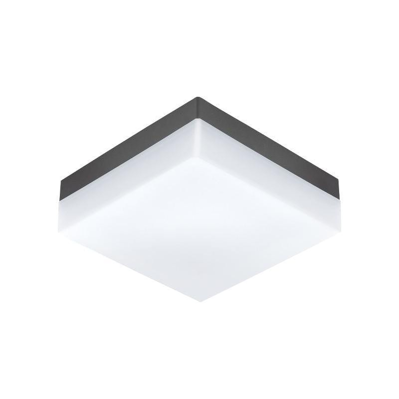 Eglo Sonella Anthracite Finish Outdoor LED Ceiling Light 94872 by Eglo Outdoor Lighting