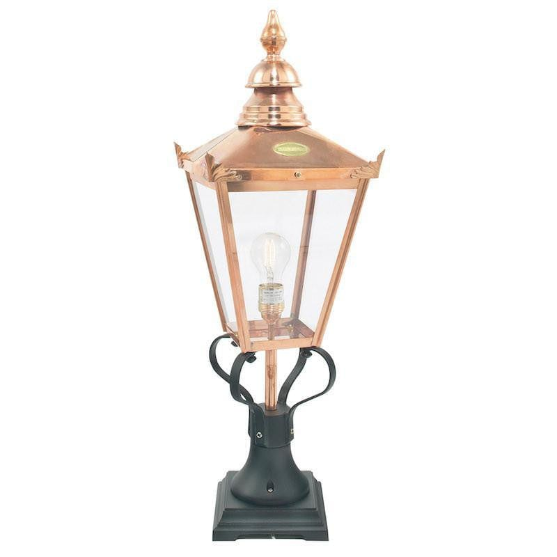 Elstead Chelsea Large Copper Outdoor Pedestal Lantern