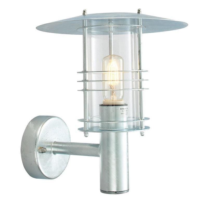 Elstead Stockholm Large Galvanised Steel Outdoor Wall Lantern