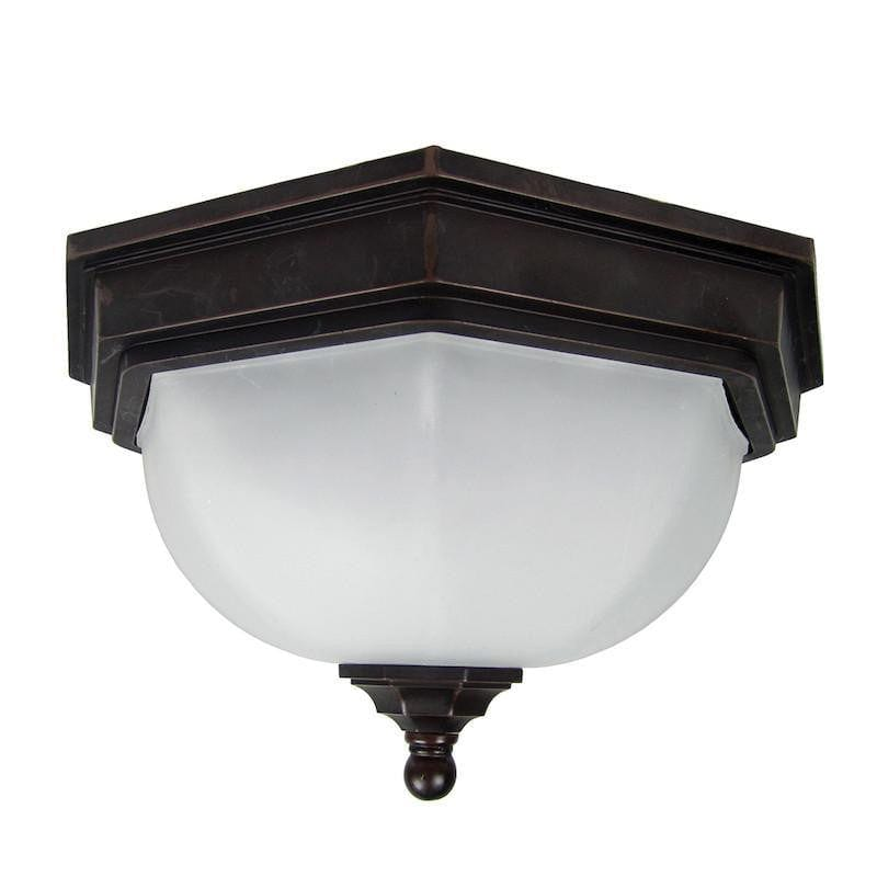 Elstead Fairford Old Bronze Finish Outdoor Flush Lantern