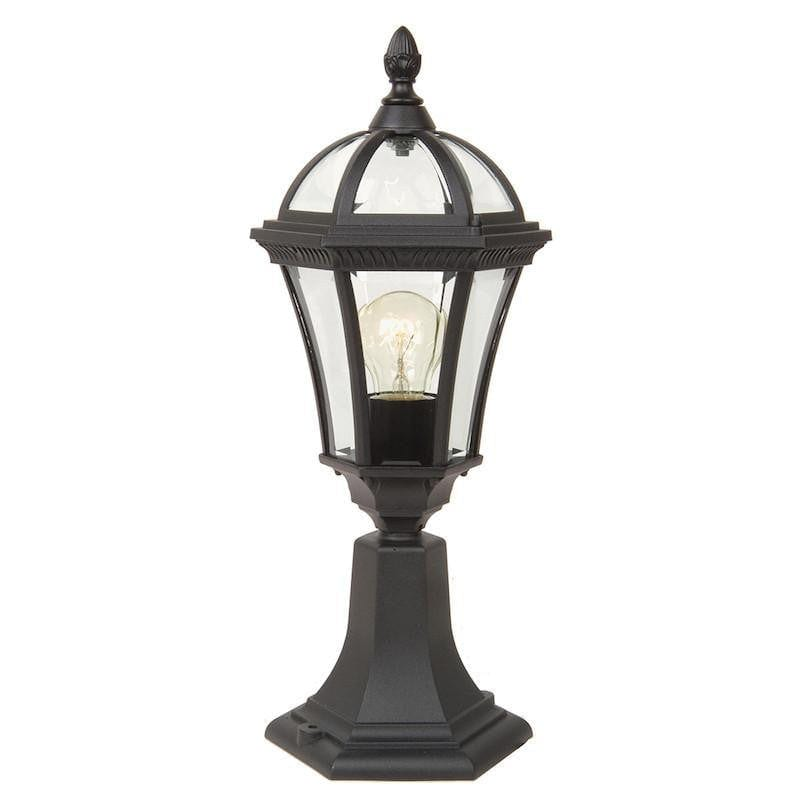 Elstead Ledbury Black Finish Outdoor Pedestal Lantern