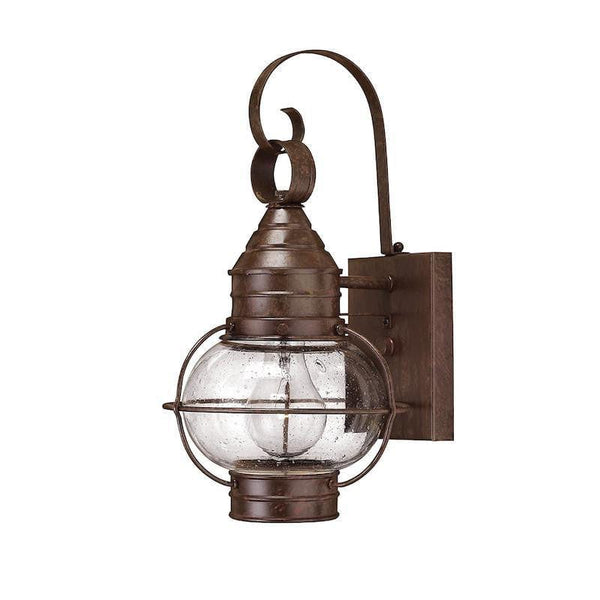 Elstead Cape Cod Sienna Bronze Finish Small Outdoor Wall Lantern