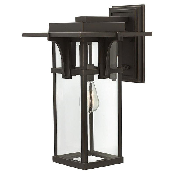 Elstead Manhattan Oil Rubbed Bronze Finish Large Outdoor Wall Lantern
