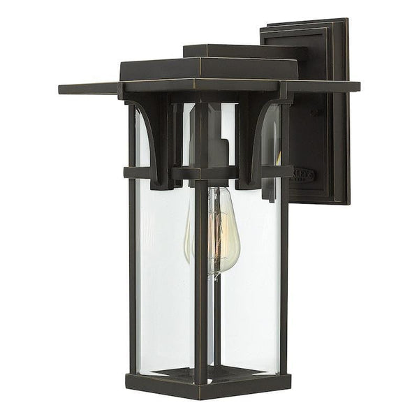 Elstead Manhattan Oil Rubbed Bronze Finish Medium Outdoor Wall Lantern