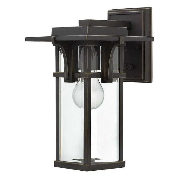 Elstead Manhattan Oil Rubbed Bronze Finish Small Outdoor Wall Lantern