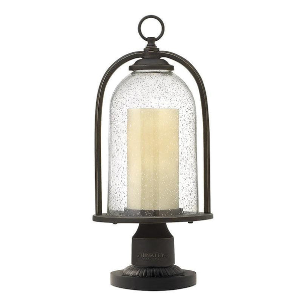 Elstead Quincy Oil Rubbed Bronze Finish Outdoor Pedestal Lantern