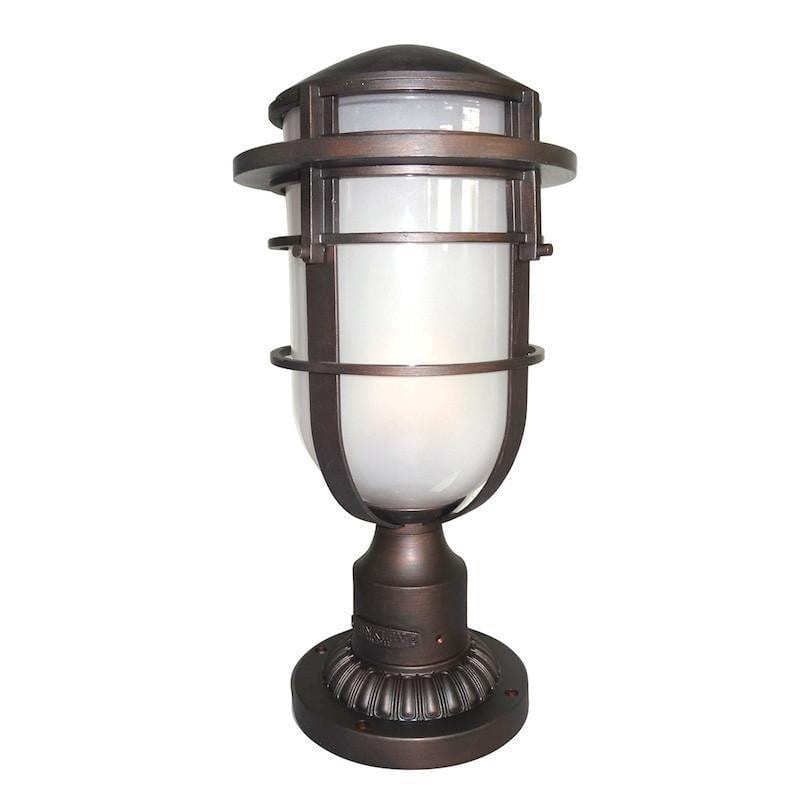 Elstead Reef Victorian Bronze Finish Outdoor Pedestal Lantern