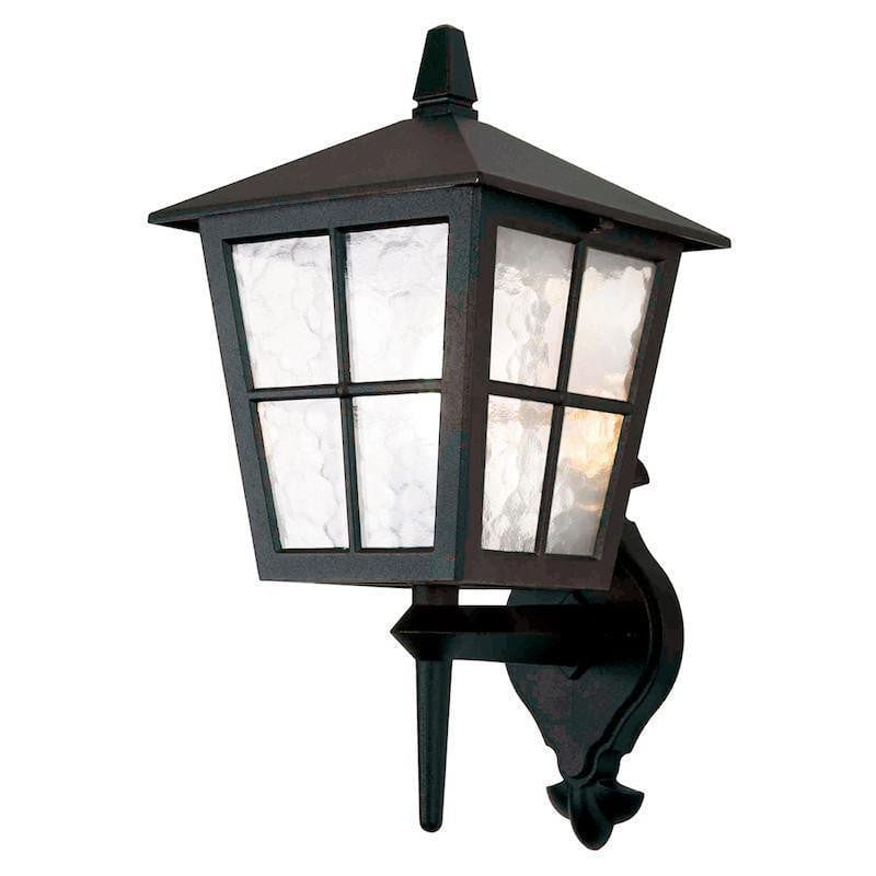 Elstead Canterbury Black Finish Outdoor Uplighter Wall Lantern BL46M
