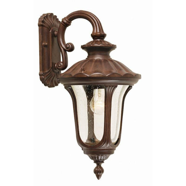 Elstead Chicago Rusty Bronze Patina Small Outdoor Downlighter Wall Lantern