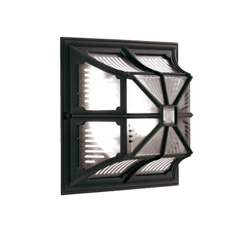Elstead Chapel Black Finish Outdoor Flush Lantern