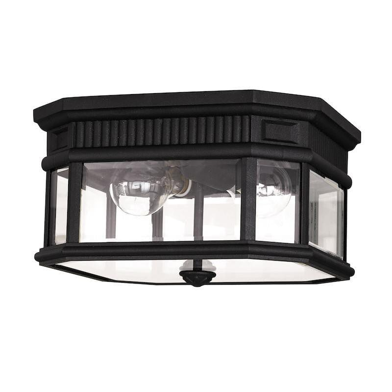 Elstead Cotswold Lane Black Outdoor Flush Ceiling Lantern