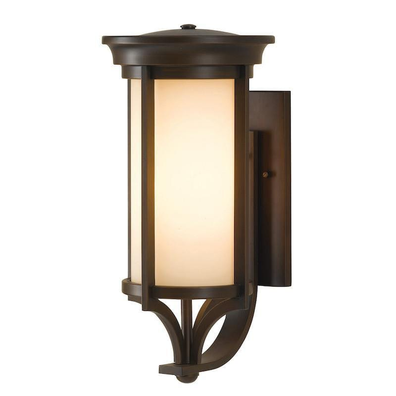 Elstead Merrill Heritage Bronze Finish Medium Outdoor Wall Lantern